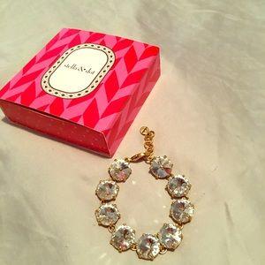 Used Stella & Dot Amelie bracelet - gold/clear